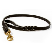 12 mm width leather show leash  (XA12...)